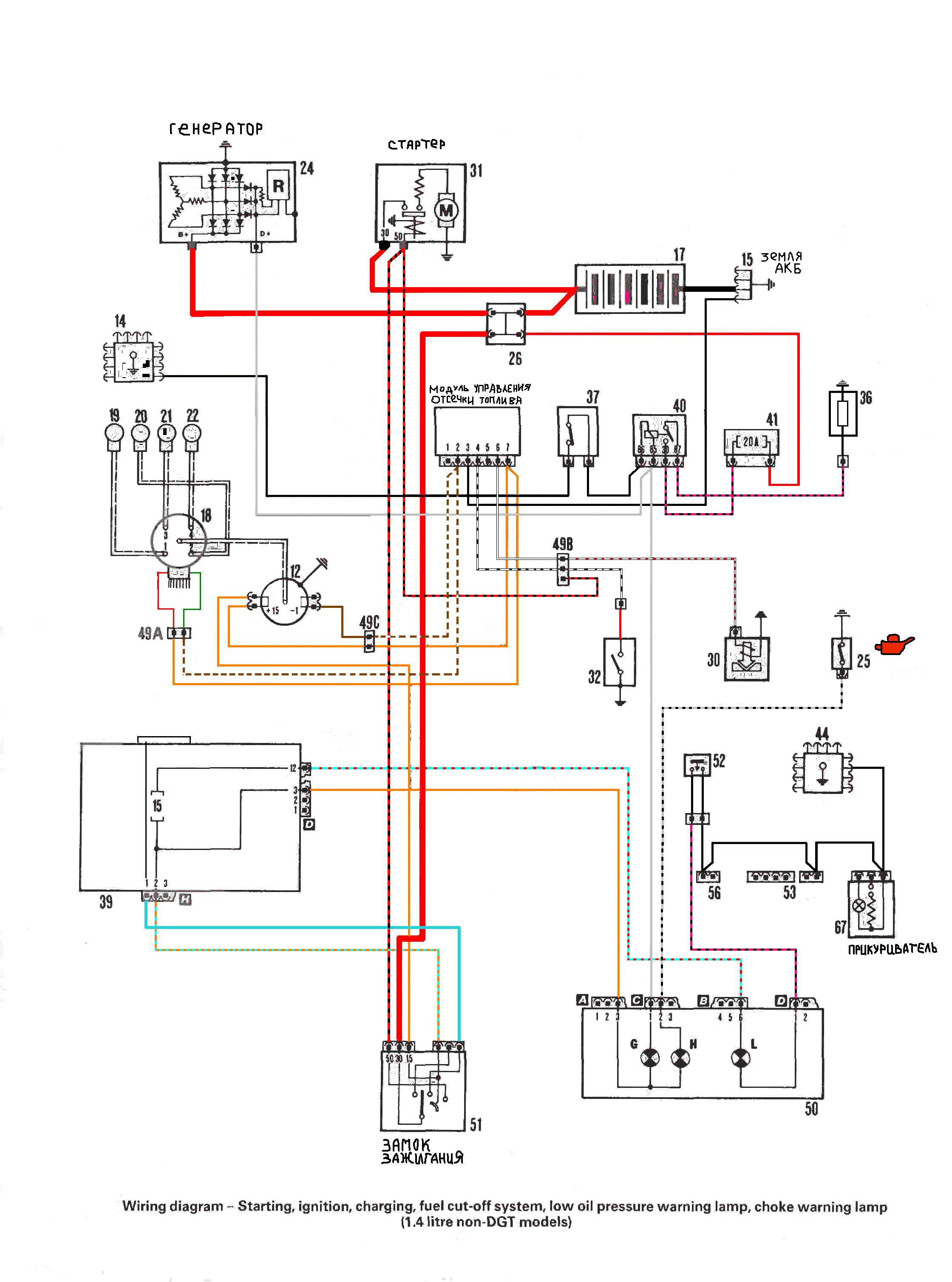Fiat tipo схема электрооборудования